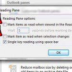 stop marking selected messages as read