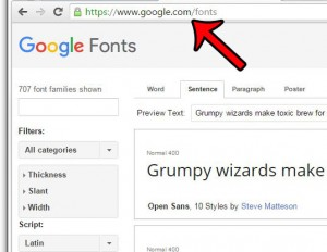 go to the google fonts page