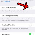 turn off contact photos in messages