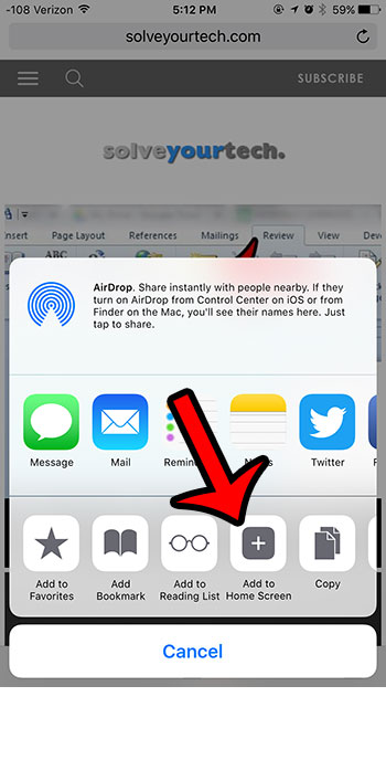 How to Create a Shortcut to a Website on an iPhone 6 - Solve
