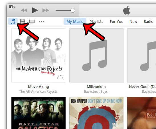 navigate to your itunes music library