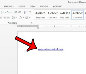 find the hyperlink in your document