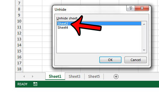 how to unhide a worksheet in excel 2013