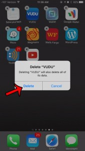 uninstall an app in ios 9 on iphone 6