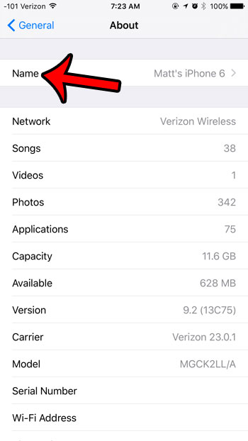 how to change the personal hotspot name in ios 9