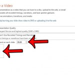 save powerpoint 2013 as video