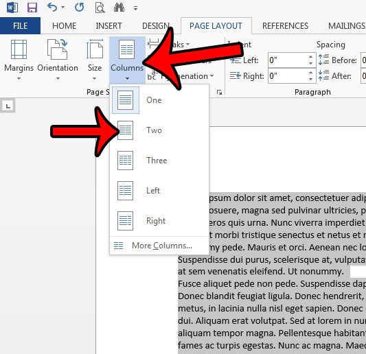 add a column in word 2013