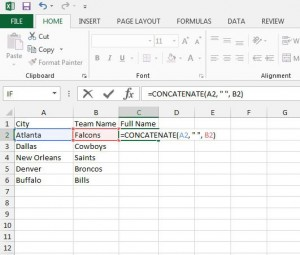 combine two text columns in excel 2013