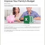 family budgeting excel sheet guide