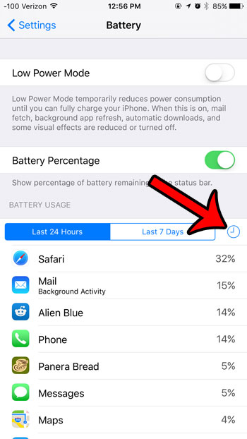 view battery usage details in ios 9