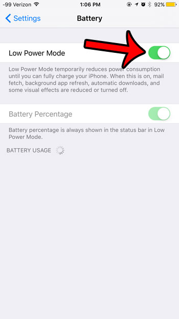 is low power mode turned on by default