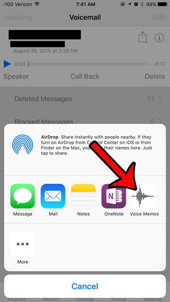 how to save voicemail as voice memo