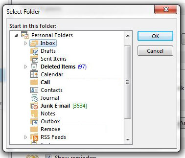 select the startup folder