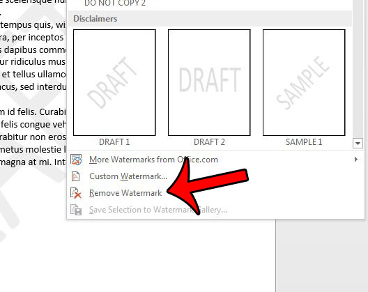 How to Remove a Watermark in Word 2013 - Solve Your Tech