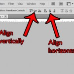 vertically or horizontally align layers in photoshop cs5