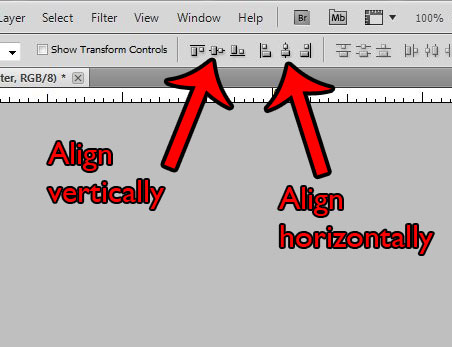 How to make sure something is centered in photoshop
