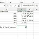 count the number of blank cells in a range in excel 2013