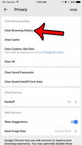 How to Delete History in the iOS 9 Chrome Browser