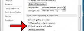 check for grammar when checking spelling in powerpoint 2013