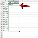 how to find the day of the week from a date in excel 2013