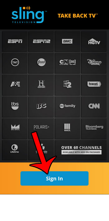 how to get sling tv on the iphone 6