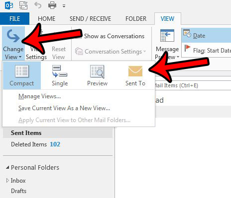 How to Show the Recipient's Name in the Outlook 2013 Sent