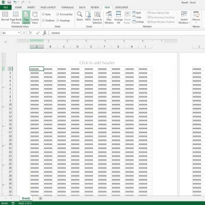 see print layout in excel 2013