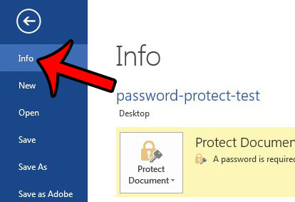 remove password protection from a word document