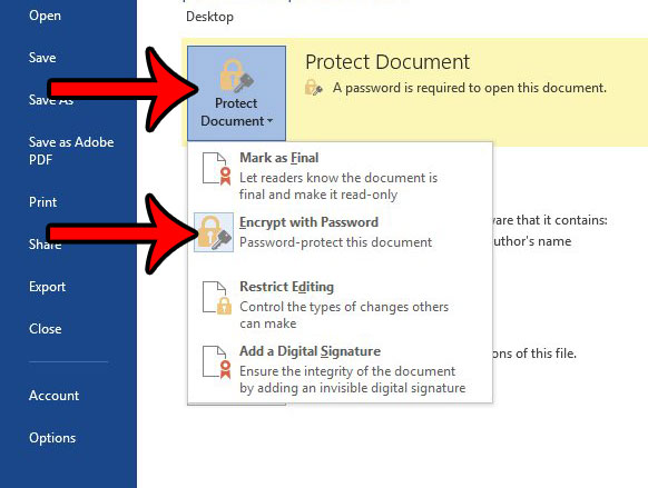 how to remove a password from a word document