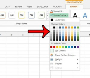 add a border to text box in excel 2013