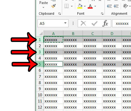 select multiple rows