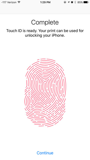update or remove touch id fingerprint