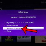 remove hbo now channel