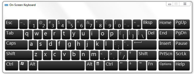 windows 7 on screen keyboard