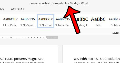 word 2013 document in compatibility mode