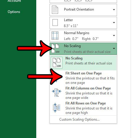 adjust excel sheet to fit on one page