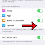 disable automatic app updates on iphione