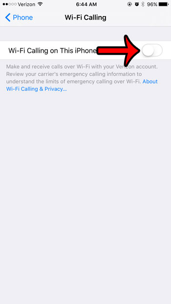 enable wifi calling on this iphone