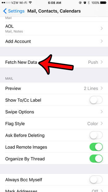 fetch new data