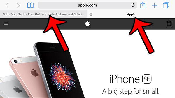 where are tabs in safari on iphone