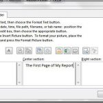 different header on first page excel 2013