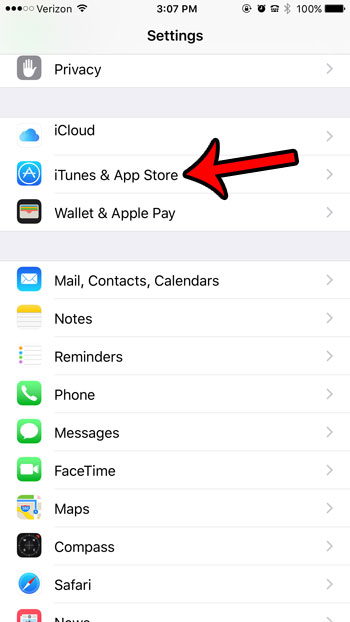How to sign off itunes on the iphone