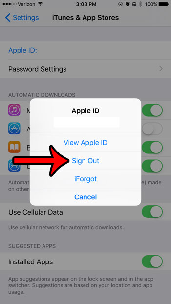 How to Sign Out of iTunes on an iPhone 6 in iOS 9 - Solve Your Tech