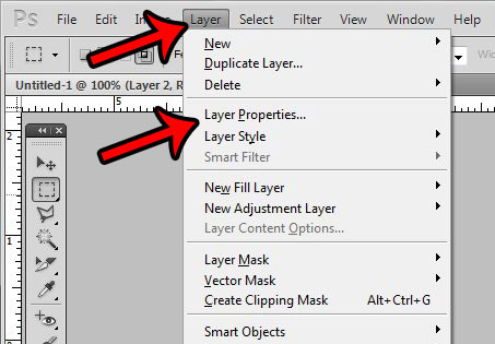 click layer, then layer properties