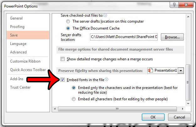 How to Embed Fonts in Powerpoint 2013 - Solve Your Tech