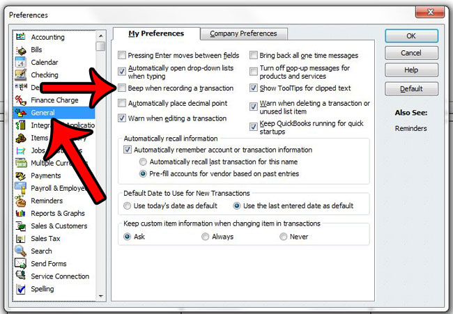 How to Stop Quickbooks from Beeping Every Time You Enter an