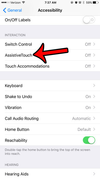 tap assistivetouch button