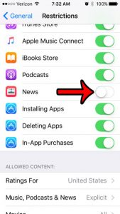 remove news app from iPhone