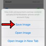 save picture in chrome on iphone