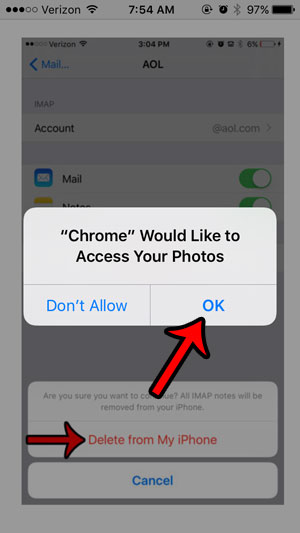 grant chrome access to photos